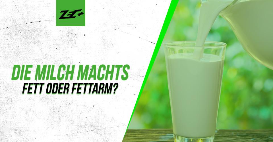Vollmilch versus fettarme Milch