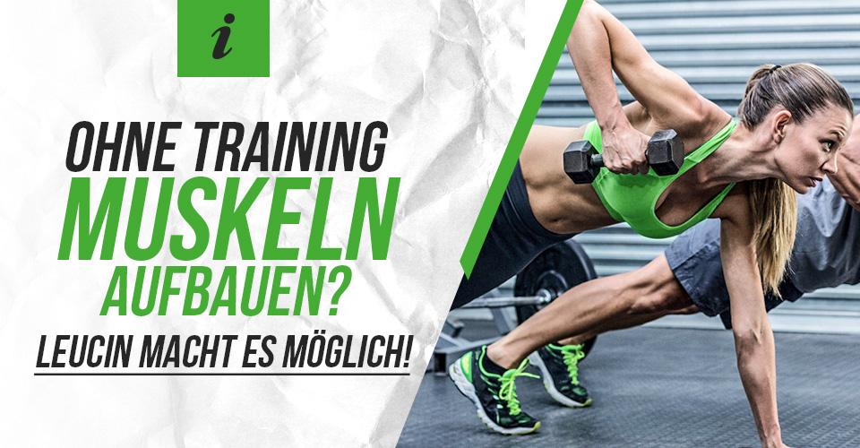 Ohne Training Muskeln aufbauen? Leucin macht es möglich!