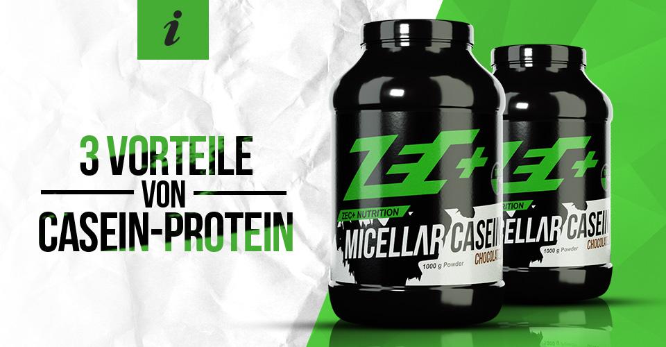 Drei Vorteile von Casein-Protein