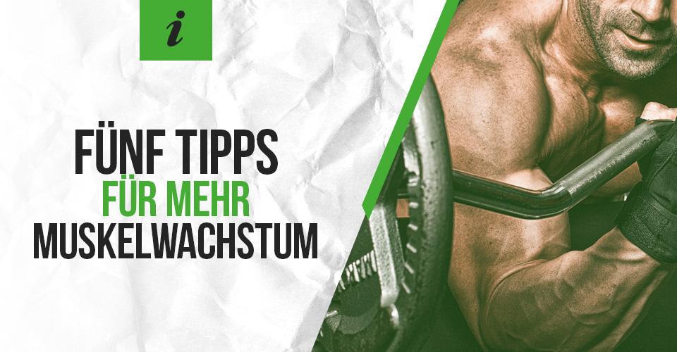 Fünf Tipps für mehr Muskelwachstum