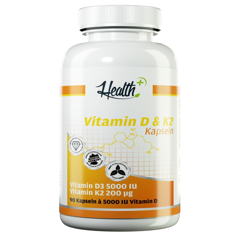Health+ Vitamin D & K2 Kapseln