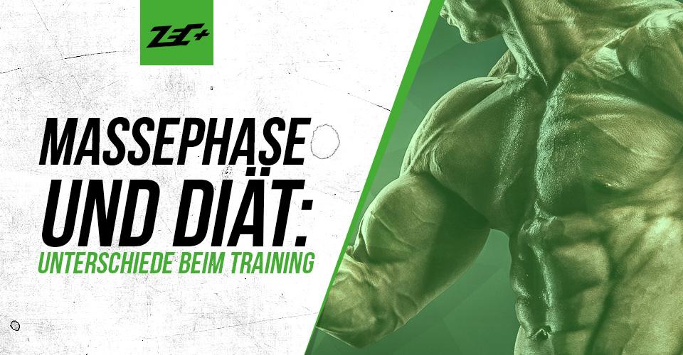 Massephase und Diät: Unterschiede beim Training