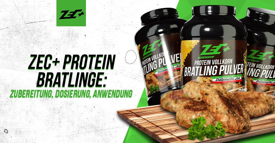 Zec+ Protein Bratlinge: Zubereitung, Dosierung, Anwendung
