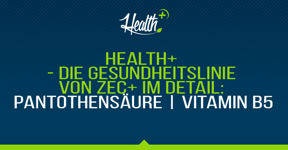 Health+ – Die Gesundheitslinie von Zec+ im Detail: PANTOTHENSÄURE | Vitamin B5